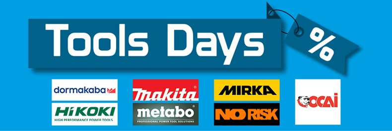TOOLS DAYS  DORMAKABA | HIKOKI | MAKITA | METABO | MIRKA | NO RISK | OCAI